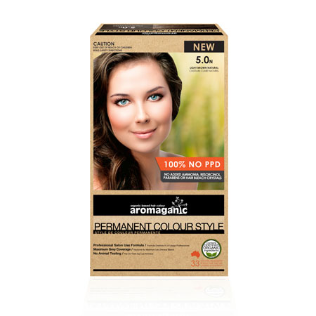 Aromaganic 5.0N Light Brown Natural Hair Colour Product Image