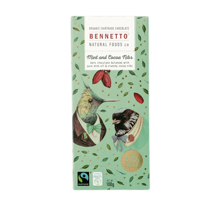 Bennetto Chocolate - Mint & Cocoa Nibs Product Image