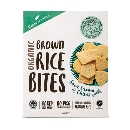 Ceres Sour Cream and Chives Rice Bites Product Image