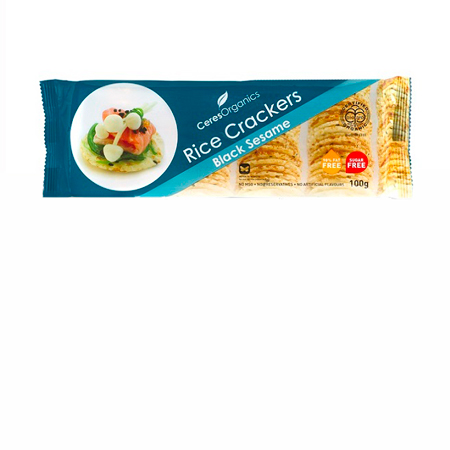 Ceres Black Sesame Rice Crackers Product Image
