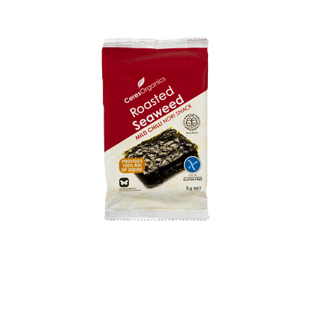 Ceres Mild Chilli Roasted Nori Seaweed Snack Pack Product Image