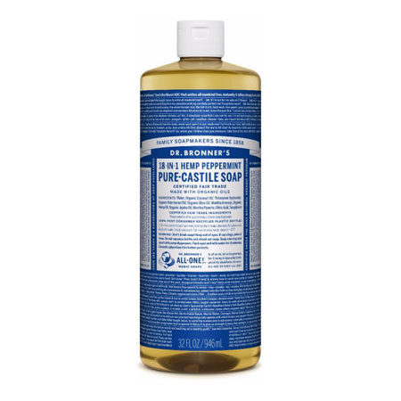 Dr Bronners Peppermint Liquid Soap Product Image