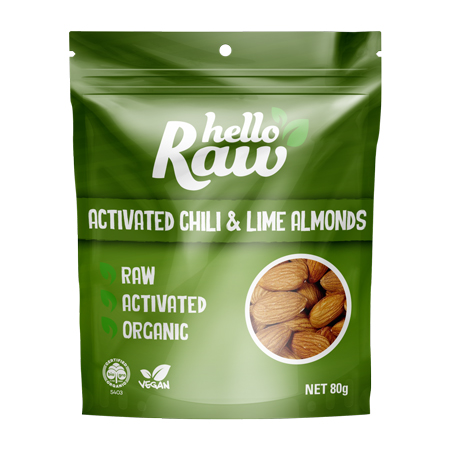 Hello Raw Activated Almonds - Chilli & Lime Product Image