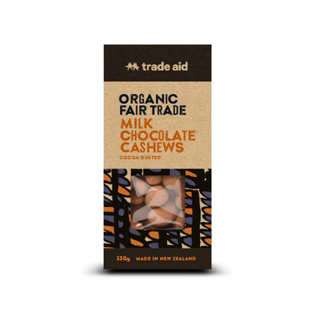 Trade Aid Milk Chocolate Coated Cashews Product Image