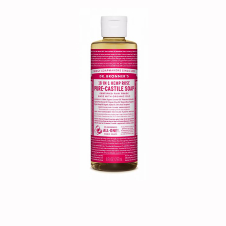 Dr Bronner's Rose Liquid Soap Product Image