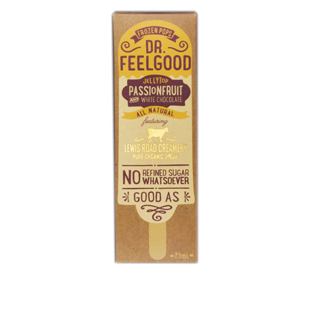 Dr Feelgood White Choc & Passion Frozen Pop Product Image