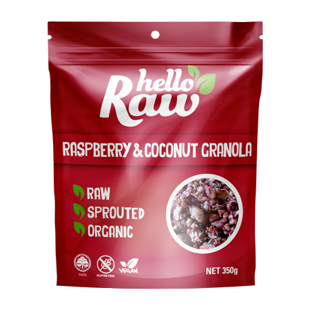 Hello Raw Raspberry & Coconut Granola Product Image