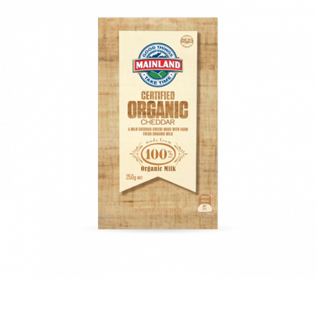 Mainland Organic Cheddar Cheese Product Image