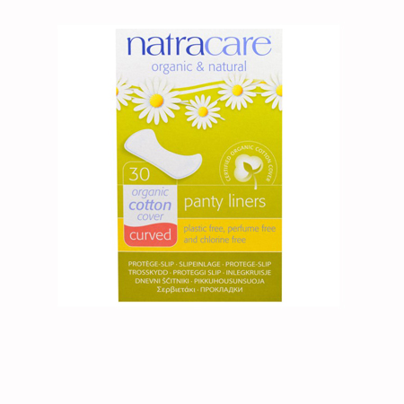 Natracare Panty Liners Curved Natural Product Image