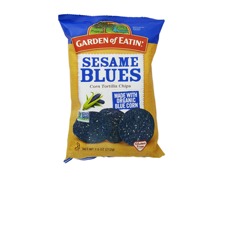 Garden of Eatin' Sesame Blue Corn Chips Product Image