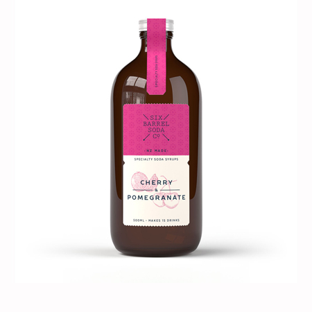 Six Barrel Soda Co. Cherry & Pomegranate Soda Syrup Product Image