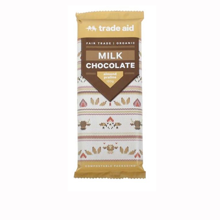 Trade Aid Almond Praline Milk Chocolate Product Image