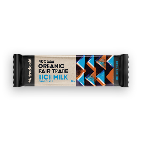 Trade Aid Organic 40% Rich Milk Chocolate Product Image